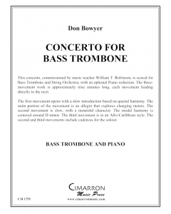 Concerto for Bass Trombone and Piano