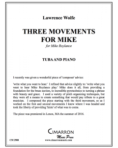 Three Movements for Mike