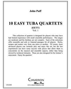 10 Easy Tuba Quartets