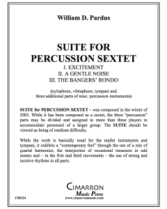 Suite for Percussion Sextet