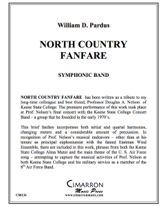 North Country Fanfare