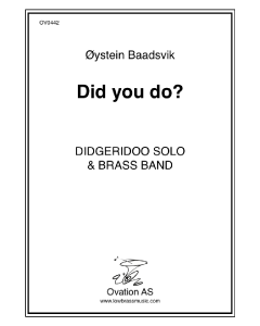 Did You Do? (tuba and wind band)