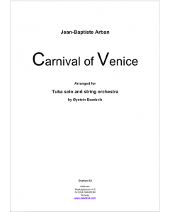 Carnival of Venice (version for Eb tuba) (tuba and strings)