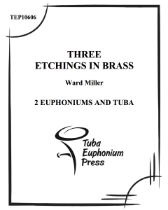 Three Etchings in Brass